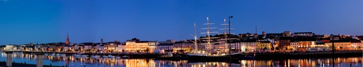 Waterford City -River dusk view of town